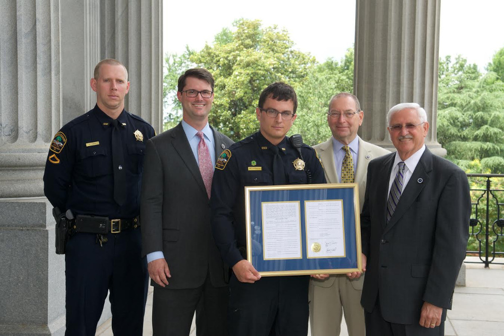 House recognizes Spartanburg County Deputy Michael Hubbard for his heroic actions